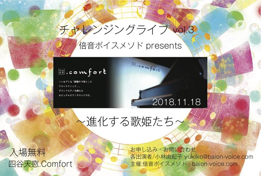 チャレンジングライブ入場無料!